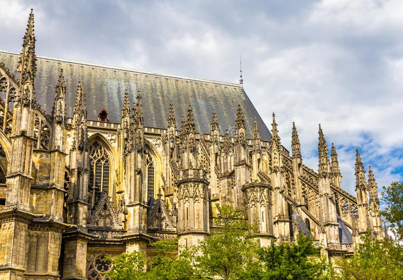 Details of Orleans Cathedral - France. Region Centre royalty free stock photo