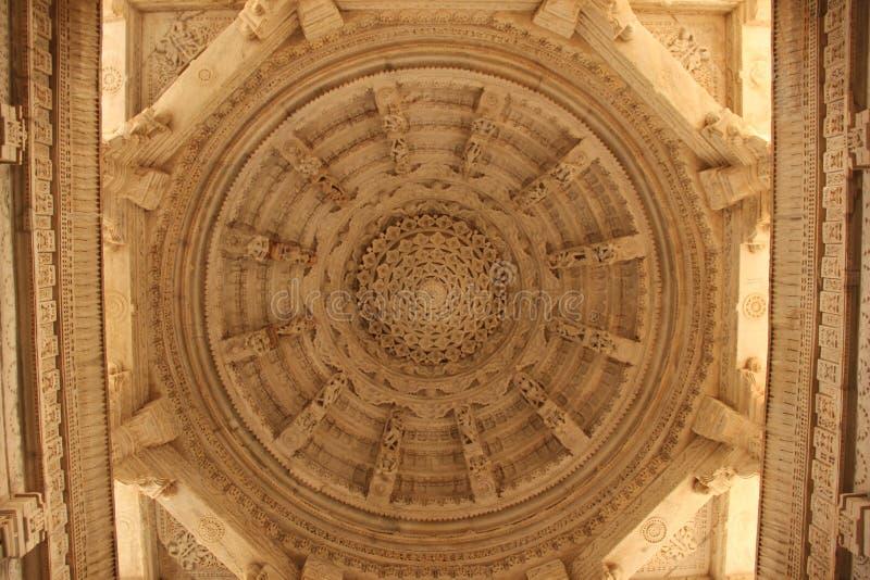 Details am Ranakpur-Tempel lizenzfreie stockbilder