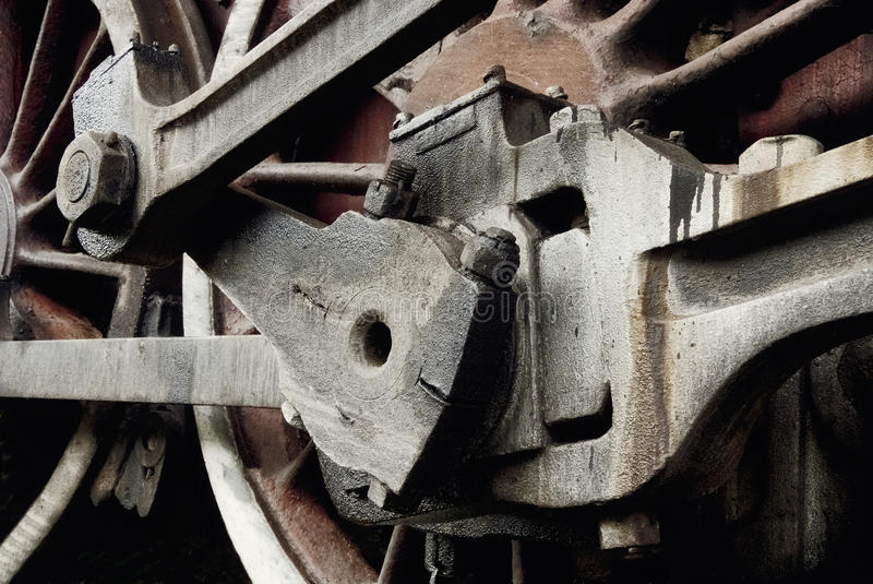 Details of a retro train wheel. stock photography