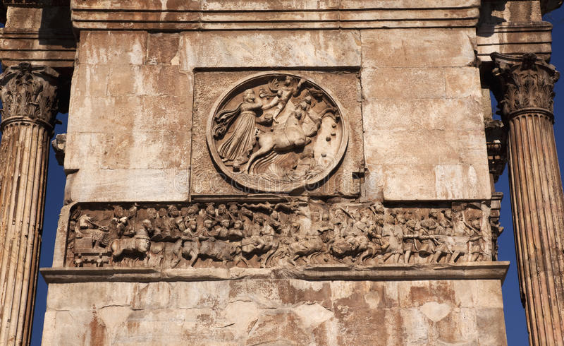 Download Details Roman Soldiers Constantine Arch Rome Italy Stock Photo - Image of arch, forum: 11259592