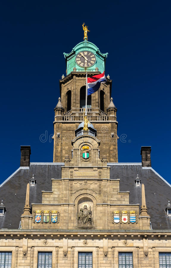 Details of Rotterdam city hall royalty free stock photo