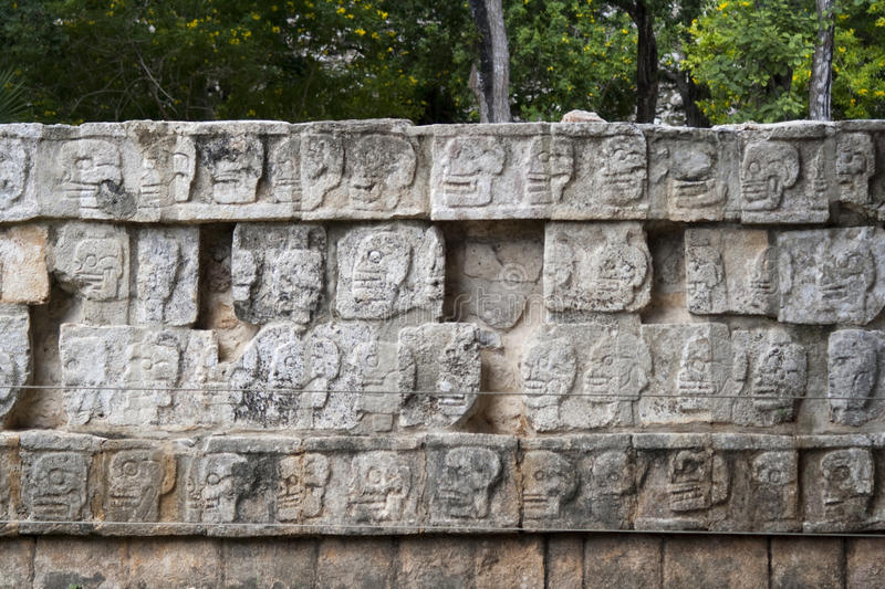 Details of the Ruins of Chichen Itza royalty free stock photo