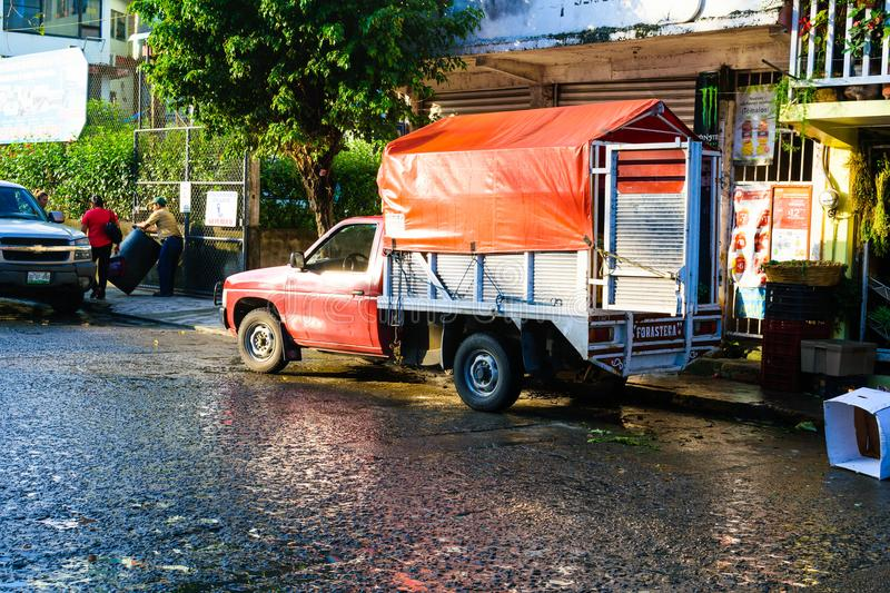 Mexican Street Scene. Details of a rustic street scene at Tuxpan, Veracruz State in Mexico royalty free stock image