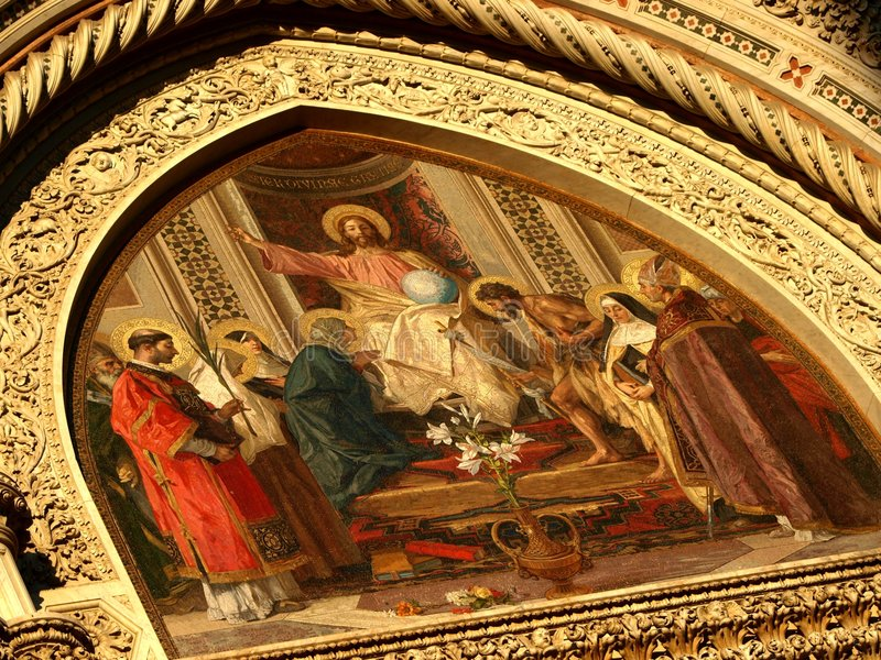 Details of Santa Maria Novella in Florence royalty free stock photos
