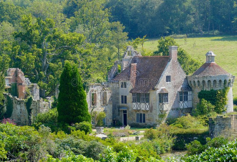 Details of Scotney Castle & gardens in Kent - England stock photos