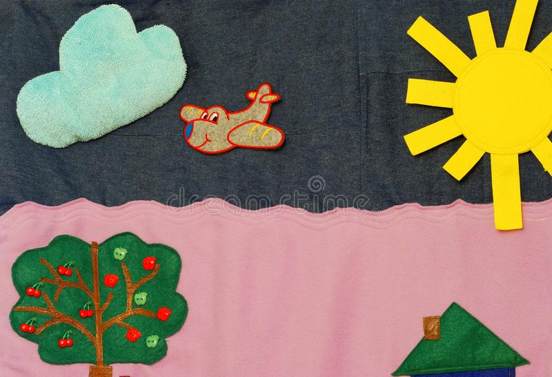 Details of soft creative mat for development of child stock images