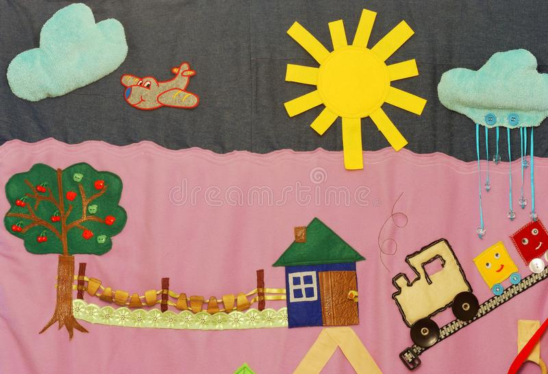 Details of soft creative mat for development of child royalty free stock photography