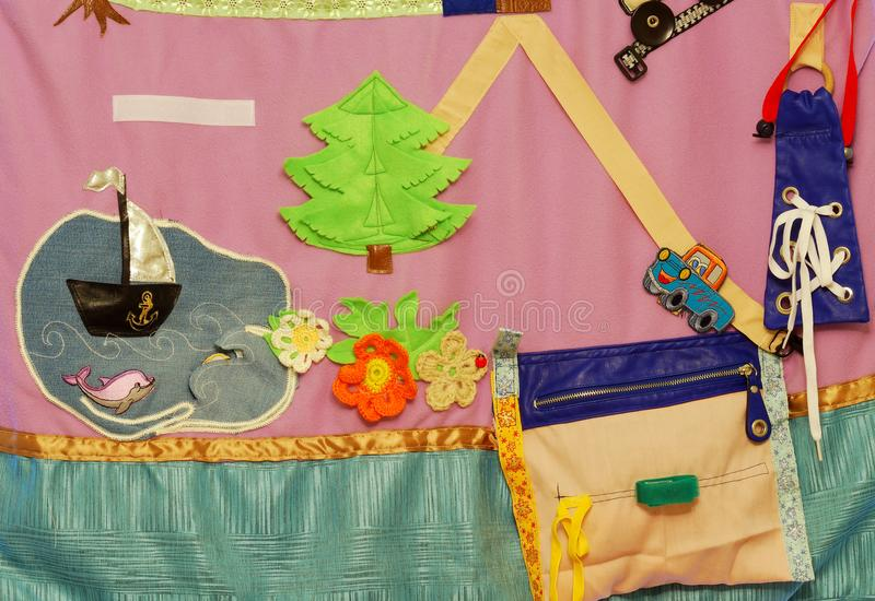 Details of soft creative mat for development of child royalty free stock image