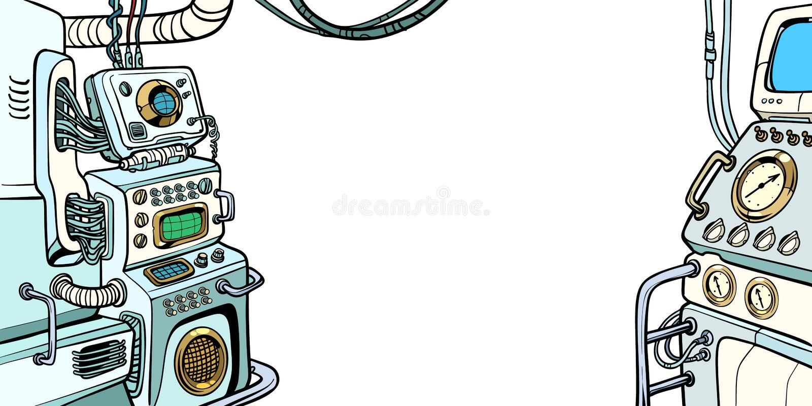 Details of the spacecraft royalty free illustration