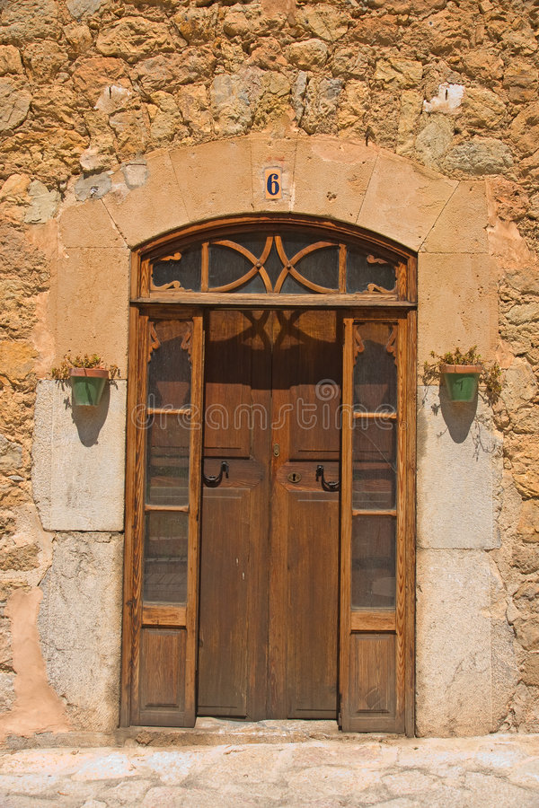 Details of Spanish doorway royalty free stock image