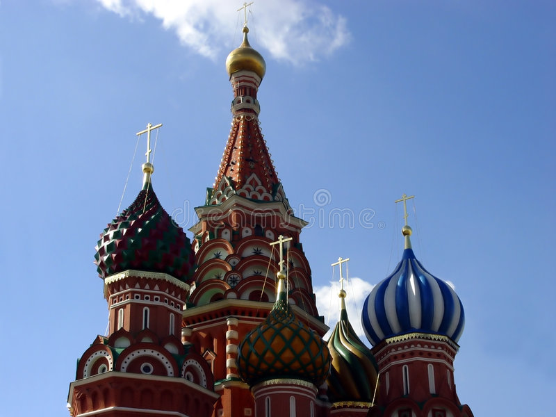 Details of St. Basil Cathedral stock images