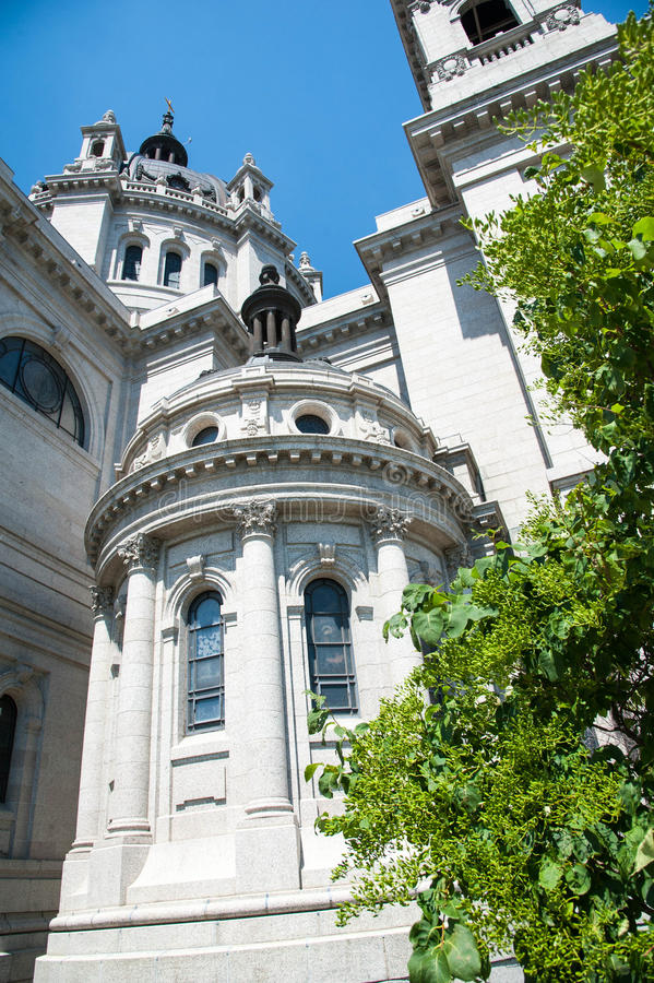 Details of the St. Paul Cathedral stock image
