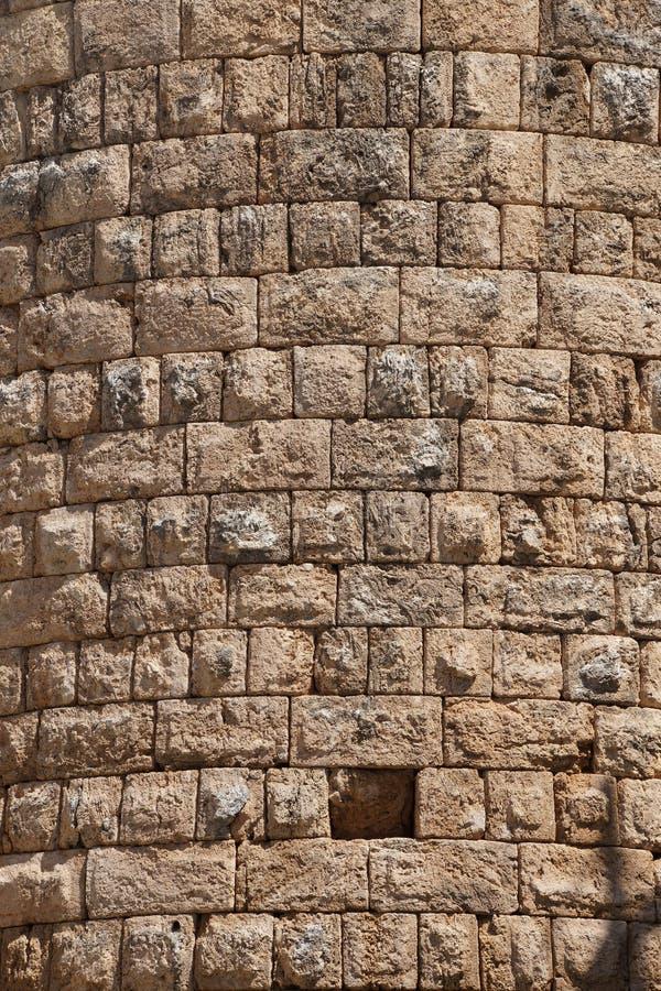 Details, Stein des Hellenistic Tors in der Altgriechischeverdichtereintrittslufttemperat stockbild