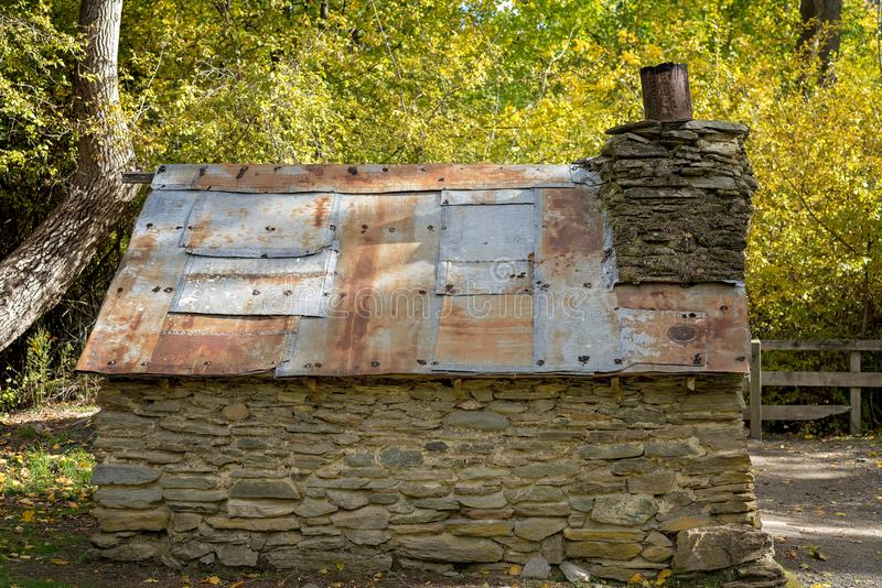 Details Of The Stone Construction Of An Old Historical Hut royalty free stock image