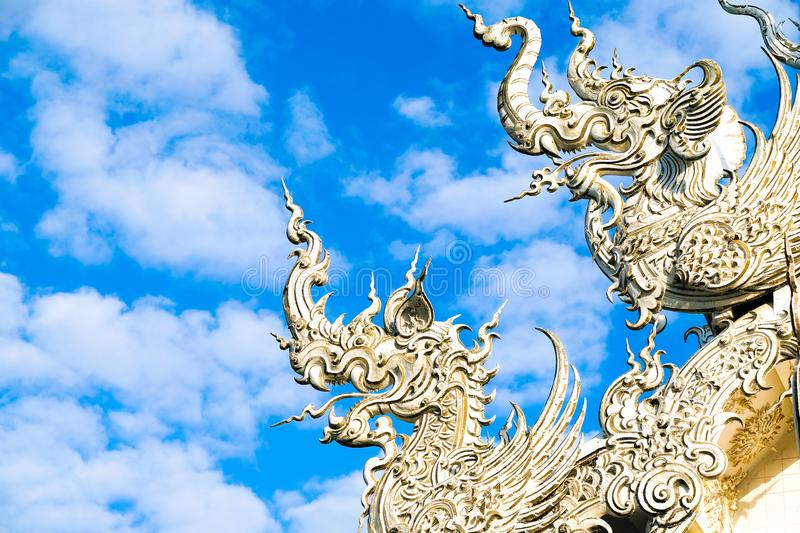 Details of Thai Buddist temple roof stock images