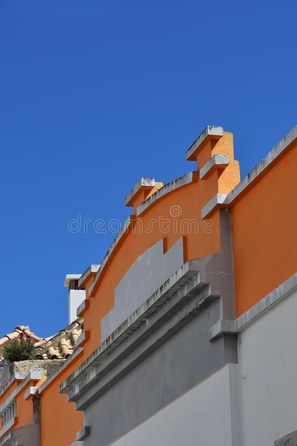 Buildings and typical houses in Algarve, Portugal stock images