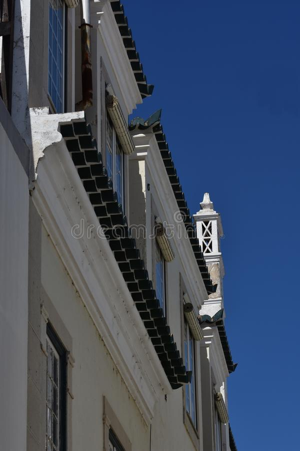 Buildings and typical houses in Algarve, Portugal royalty free stock images