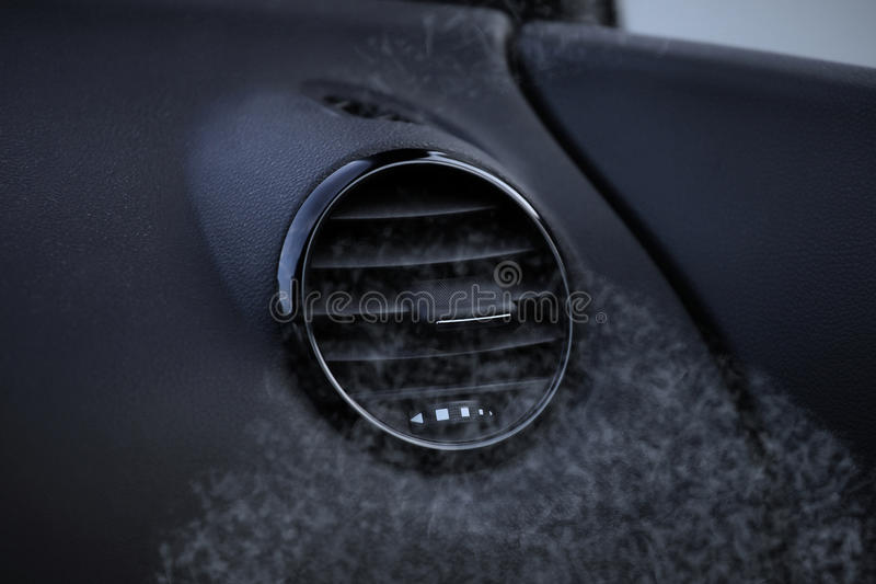 Details van airconditioning in moderne auto royalty-vrije stock foto