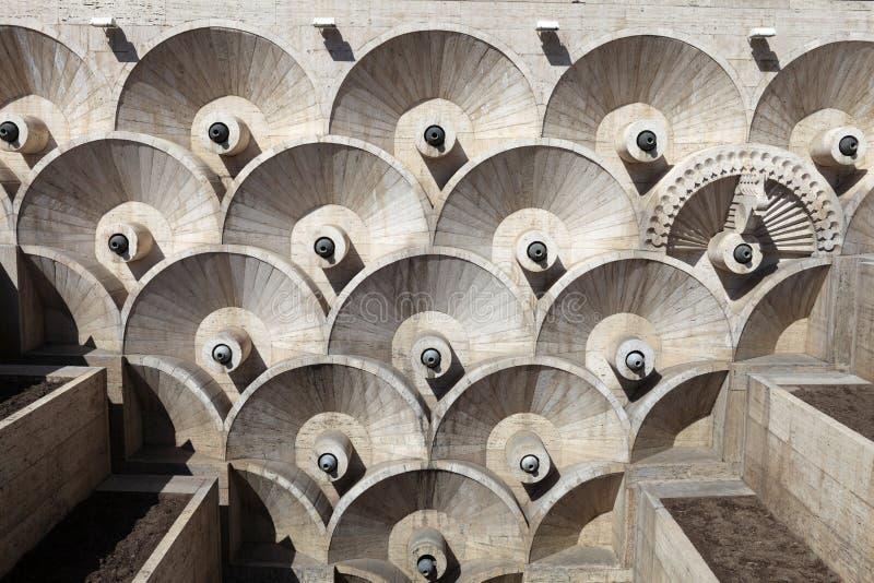 Details van Cascade in Yerevan stock afbeelding
