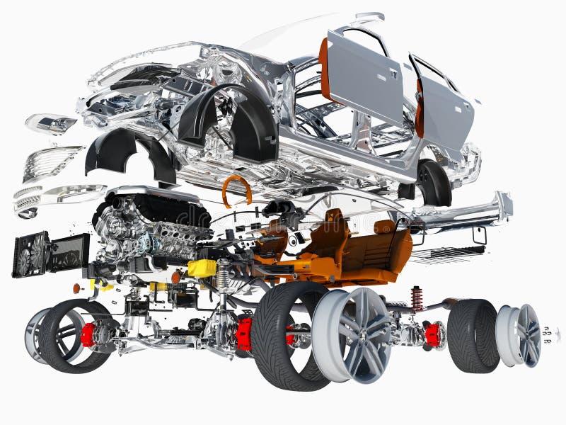 Details van de auto royalty-vrije illustratie