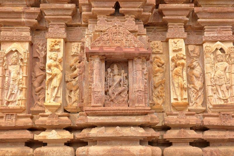 Details van de gravures van de Hindoese Tempel van Menal, Rajasthan, India Menal wordt gevestigd 54 km van Chittorgarh stock afbeelding