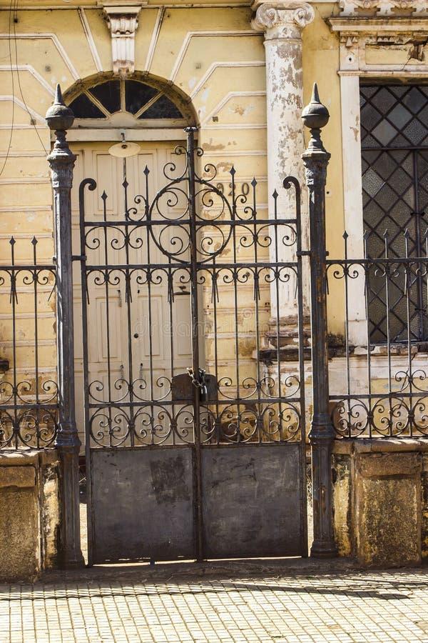 Details van de poort stock fotografie