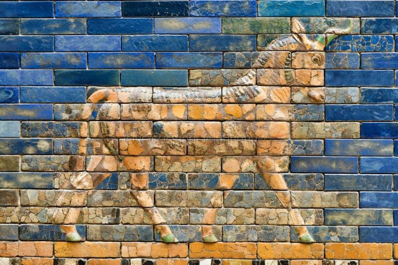 Details van de de Poortmuren van Babylonian Pergamon Ishtar royalty-vrije stock foto
