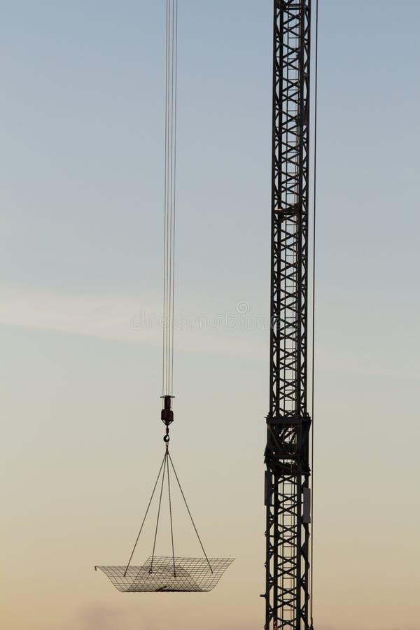 Details van een bouwkraan stock foto