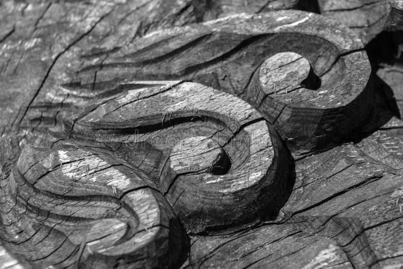 Details van een fijn houtsnijwerkart. stock afbeeldingen