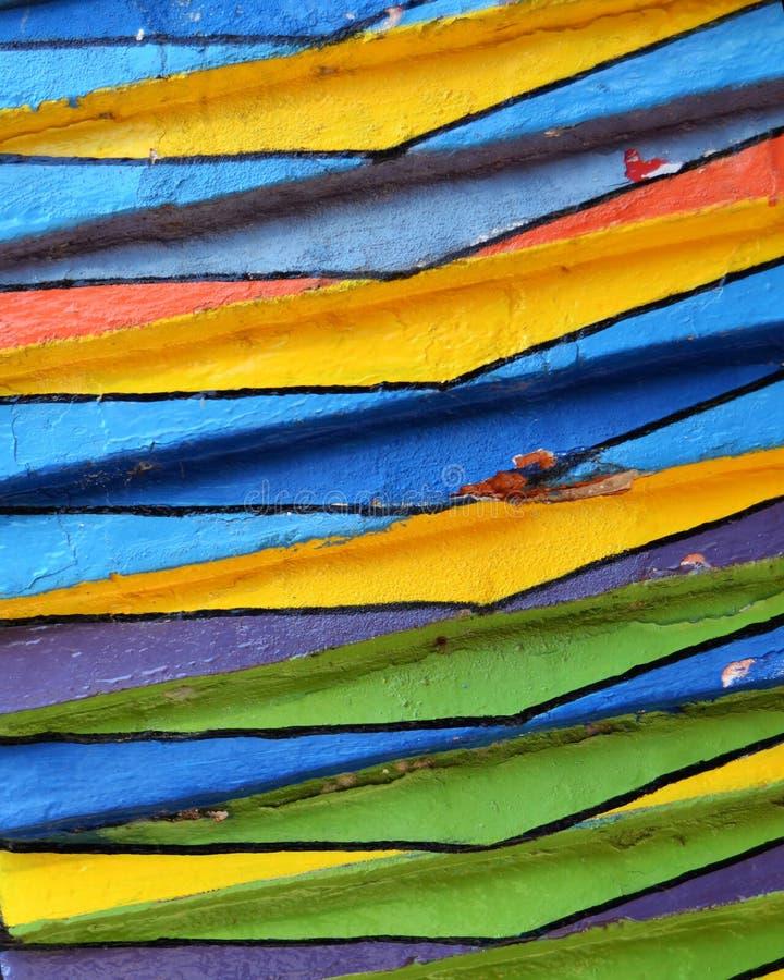 Details van een Gek Gekleurd Huis in Burano, Venetië stock afbeeldingen