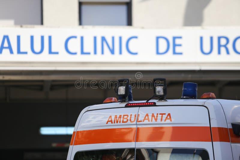 Details van een Roemeense ziekenwagen stock fotografie