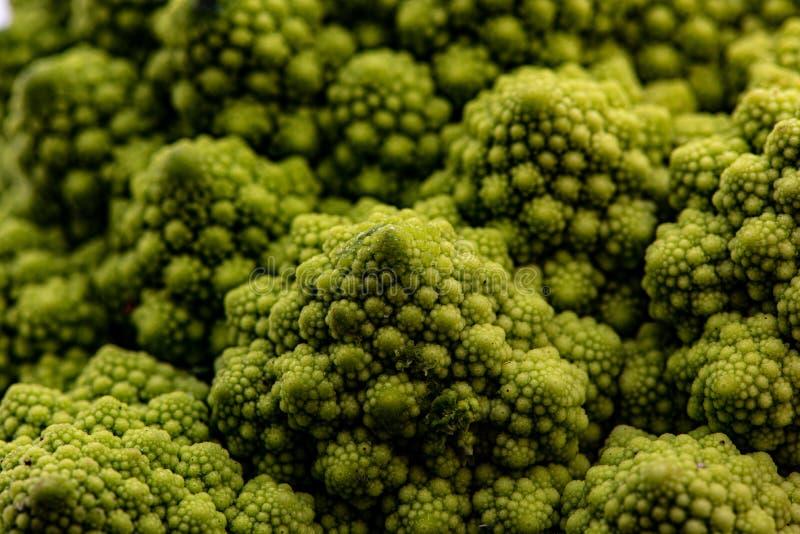 Details van een Romanesco broccoli stock afbeelding