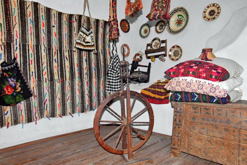Details van een traditioneel landelijk huis in Roemenië stock fotografie