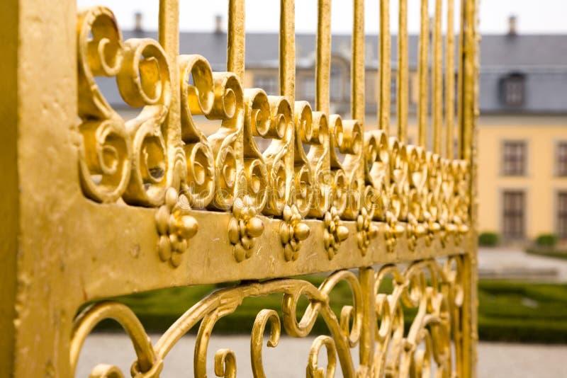 Details van gouden poort. stock fotografie