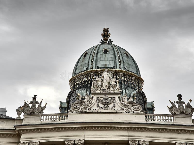 Details van het Hofburg-paleis in de stadscentrum van Wenen stock afbeelding