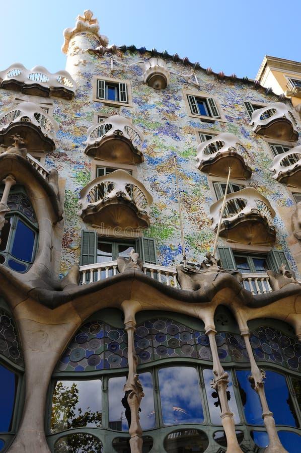 Details van het huis van Gaudi stock foto