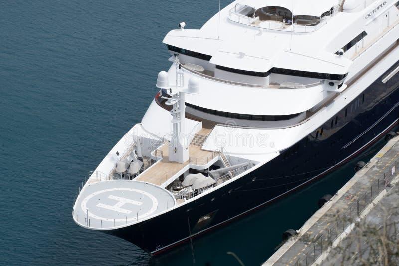 Details van het Jacht genoemd ' Octopus' - Paul Allen royalty-vrije stock fotografie