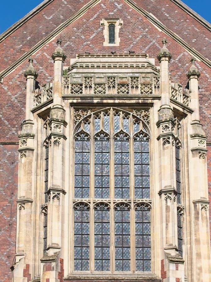 Details van het venster van de Bibliotheek royalty-vrije stock foto