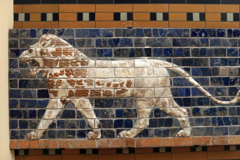 Details van Ishtar-Poort stock fotografie