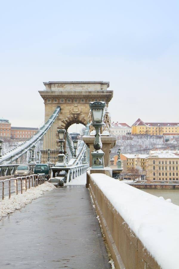 Details van Kettingsbrug, Hongarije stock afbeeldingen