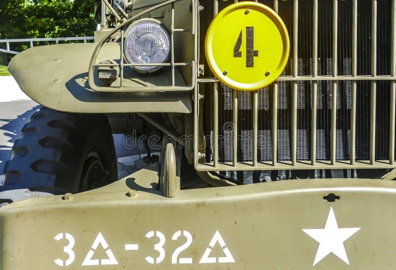 Details van klassiek militair Dodge Prestone royalty-vrije stock afbeelding