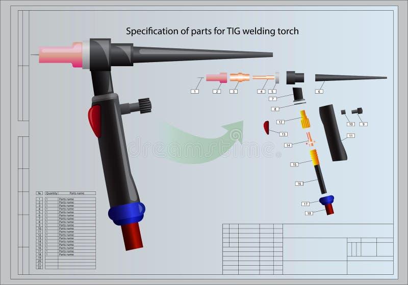 Details van lassentoorts vector illustratie