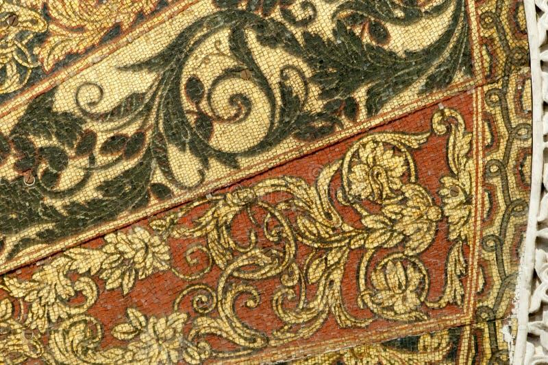 Details van Mihrab van Mezquita, Cordoba, Spanje stock foto