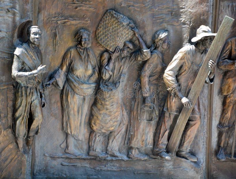 Details van monument aan de Afrikaans-Amerikaanse geschiedenis royalty-vrije stock foto's