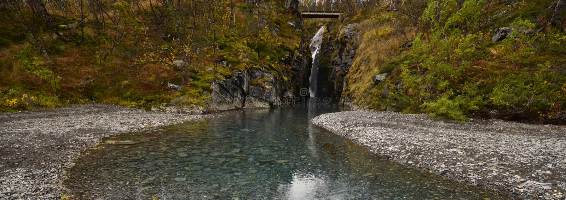 Details van mooie waterval stock foto
