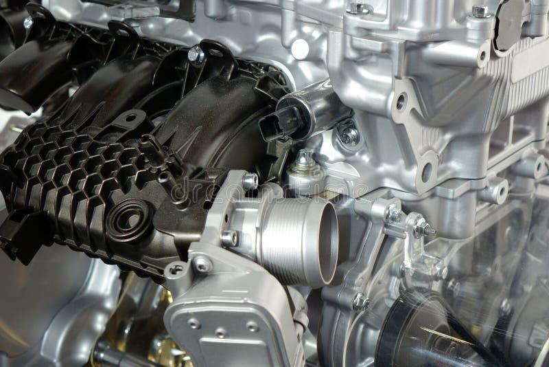 Details van motor van een auto stock fotografie