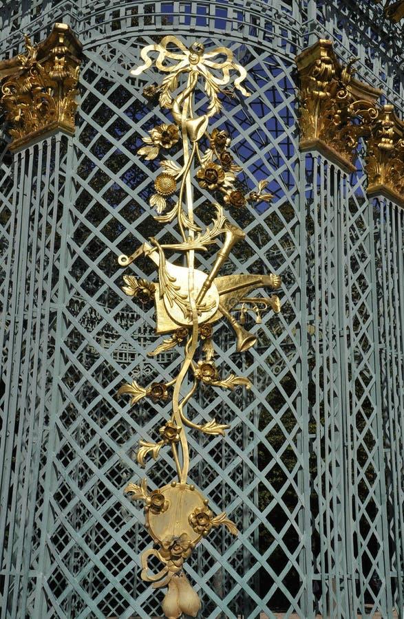 Details van Paviljoen van Sanssouci in Potsdam, Duitsland stock foto's
