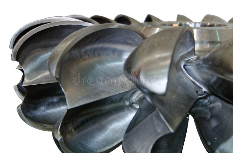 Details van Pelton-turbinewiel stock fotografie