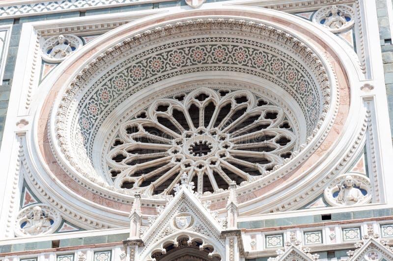 Details van Santa Maria del Fiore stock foto