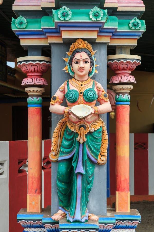 Details van standbeelden - de Tempel van Nainativu Nagapooshani Amman - Jaffna - Sri Lanka royalty-vrije stock foto's